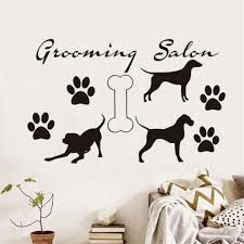 popular wall mural dog buy cheap wall mural dog lots from china dog grooming salon popular animals wall sticker vinyl wall mural home decor for pet shop living