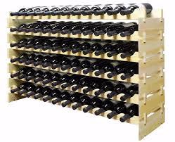 72 bottle varnished birch wood wine rack for wine cellar of