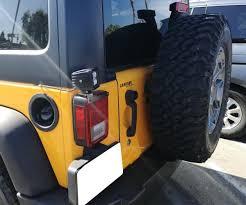 jeep wrangler backup lights 72w led pod lights w above 3rd brake bracket wiring for 07 17 jeep