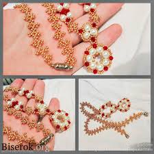 necklace romanovskoye tutorial by biserok org beaded necklaces