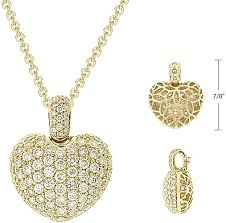 diamond heart gold necklace images 1 80ct 18k gold pave diamond heart pendant nol762939 png