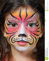tiger face paint stock photo image 48306421 facepaint