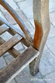 Refinishing Teak Patio Furniture Restore Outdoor Teak Furniture Tutorial H20bungalow