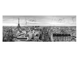 toile imprimà e panoramique polyester sur chassis paris 140x50cm city