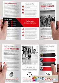 simple v4 tri fold psd brochure template free download photoshop