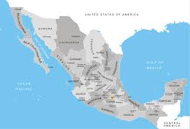 me a map of mexico mexico states map map of mexico states and cities mexico