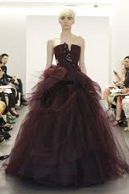 wedding dress maroon 2013 bridal trend two tone dresses