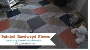 Painting Laminate Floors Diy Painted Hardwood Floors Knock It Off Diy Project East Coast