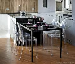 kitchen island table sets modern luxury kitchen with black island table and plexiglass