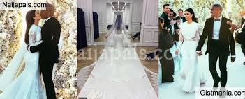 wedding dress kanye official photos from and kanye s wedding gistmania