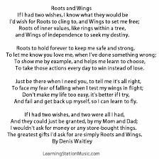 Seeking You Just Lost Wings We Came Upon This Classic Poem Roots And Wings It Truly