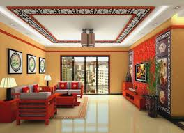 attractive home pop colour design and living room ceiling