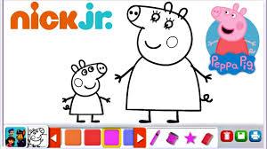 peppa pig mummy pig george pig nick jr coloring book fun for kids