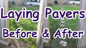 How To Make A Brick Patio by How To Install Brick Pavers On Grass Installing Brick Pavers On