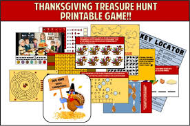 thanksgiving treasure hunt printable for