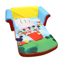 mickey mouse clubhouse flip open sofa with slumber disney mickey mouse club house marshmallow furniture children s 2 in