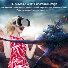 vr shinecon virtual reality headset 3d glasses diy tri fidget