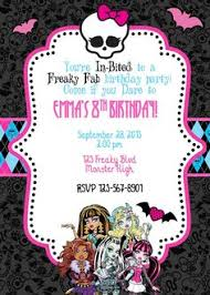 card invitation design ideas monster high birthday invite by