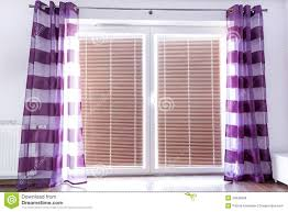 Light Purple Curtains Balcony Window With Purple Curtains Stock Images Image 29536584
