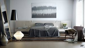 White And Dark Blue Bedroom Love The Dark Grey Wall Used In This Bedroom Modern Bedroom 31