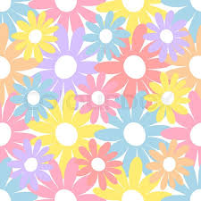 flower wrapping paper baby and kids style abstract background retro seamless