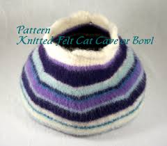 knitting pattern cat cave knitted felt pattern for cat cave pet bed or storage bowl