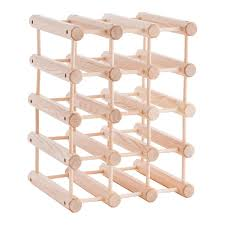 j k adams hardwood 12 bottle wine rack the container store