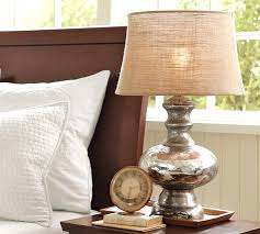 Pottery Barn Lamos Bedside Table Lamp Shades With Antique Mercury Glass Lamps Pottery