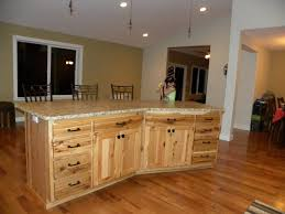 Hickory Cabinet Doors Home Designs Designing Kitchen Rustic Hickory Cabinet Doors The