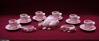 bunny tea set elizabeth s toys on display in royal childhood exhibition at