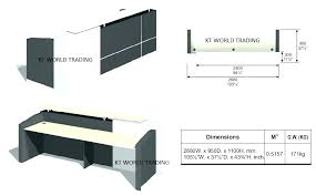reception desk height standard counter desk height reception desk dimensions reception desks