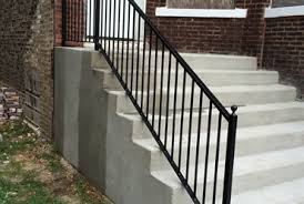 Iron Banister Chicago Wrought Iron Railings Handrails Contractor Outdoor