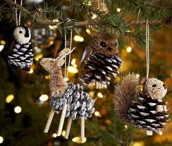 primitive tree ornaments and decoration in primitive style