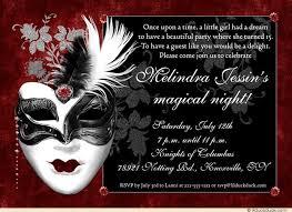 mask 15th birthday invitation royal splendid masquerade night