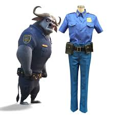 Halloween Police Costume Movie Zootopia Chief Bogo Cosplay Costume Police Officer Uniform