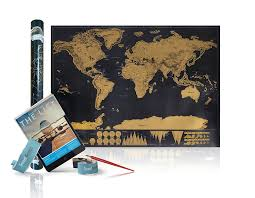 Personalized World Map by Premium World Scratch Off Travel Map U2013 Perfect Traveller U0027s