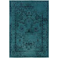 Teal Area Rug Overdye Teal 5 Ft 3 In X 7 Ft Area Rug 3251a The Home Depot