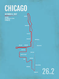 Chicago Lakeview Map by Chicago Marathon Map Print Gifts And Gear Free Shipping U0026 20