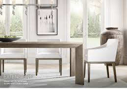 restoration hardware the nicholas american oak table designed by