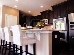 stunning dark wood kitchen design ideas with brown cabinets and