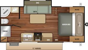 travel trailer floor plan 2018 launch outfitter 21fbs starcraft rv