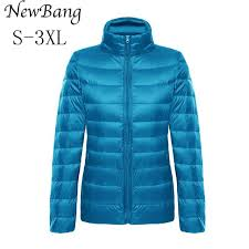 ultra light down jacket in a bag newbang women feather clothes stand collar regular portable ultra