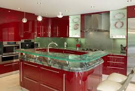 interior divine image of l shape red kitchen design and