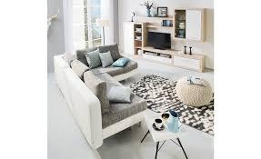 h ffner wohnzimmer ecksofa mit schlaffunktion mila weiß