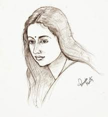 sketches and drawings pencil sketch of an indian beauty