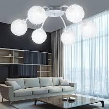 Deckenlampen Wohnzimmer Modern Deckenleuchte Deckenlampe Kugeln Alu 6 Flammig Modern Aluminium