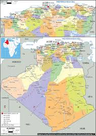 Algeria On Map Cities Map Of Algeria Map Of Palau Cities Map Of North America