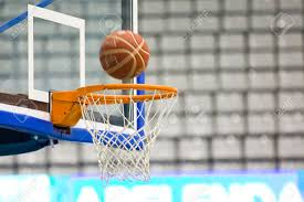 Inside In Spanish by Ball Inside The Basket Net During Spanish Basketball League Match