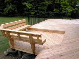 deck bench seating with storage bench decoration