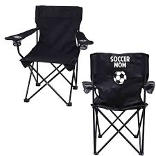 amazon com soccer mom black folding camping chair with carry bag